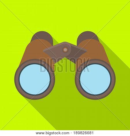 Binoculars for observation.African safari single icon in flat style vector symbol stock illustration .
