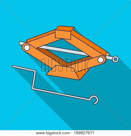 Mechanical Jack.Car single icon in flat style vector symbol stock illustration .
