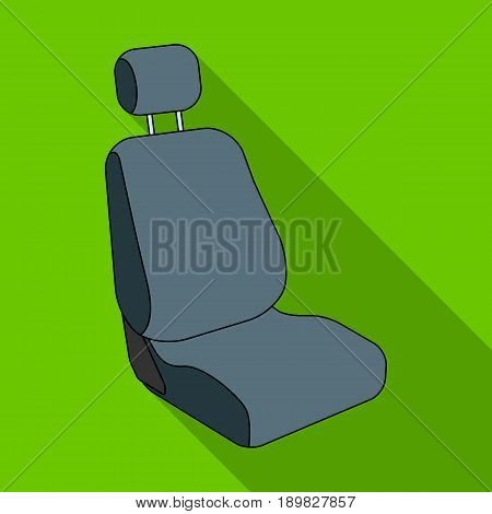 Car seat.Car single icon in flat style vector symbol stock illustration .