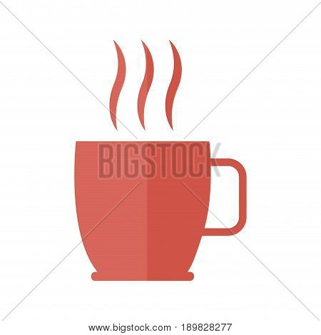 coffee cup beverage aroma fresh hot icon vector illustration
