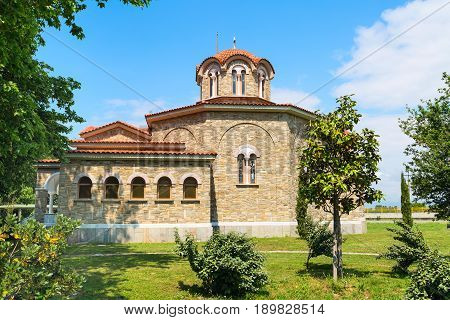 St. Lydia first European Christian, baptistry church in Lydia, Philippi, Greece