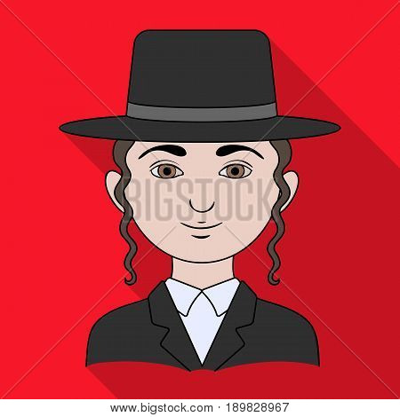 Jew.Human race single icon in flat style vector symbol stock illustration .