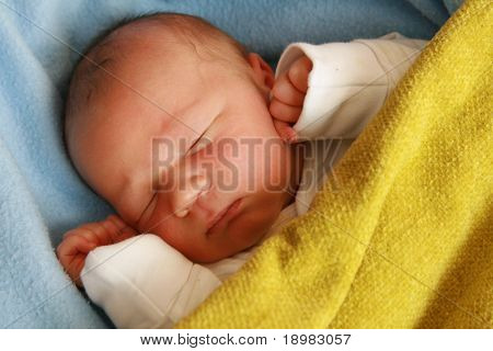 dreaming newborn baby - 3 days old baby sleeping