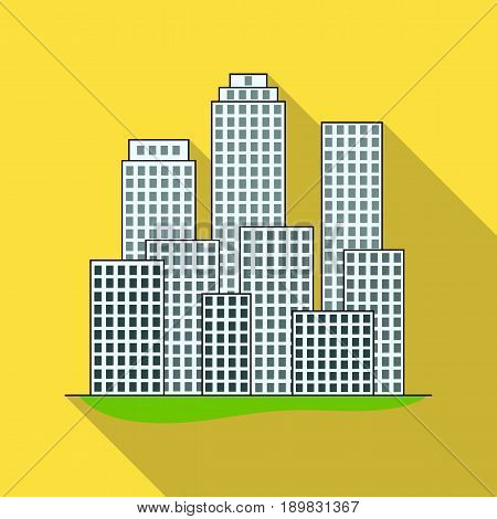 Metropolis.Realtor single icon in flat style vector symbol stock illustration .