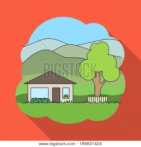 Vacation home.Realtor single icon in flat style vector symbol stock illustration .