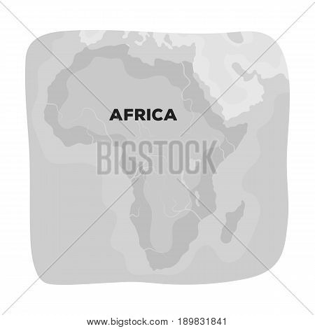 Territory of Africa.African safari single icon in monochrome style vector symbol stock illustration .