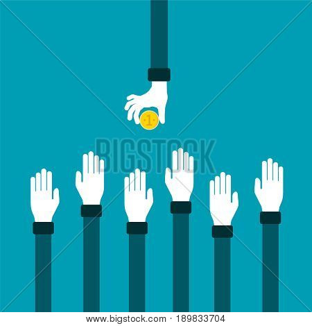 Business competition vector concept in flat style