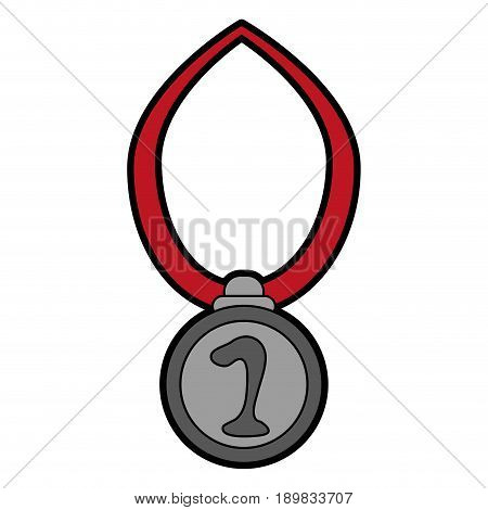 first place medal award or prize icon image vector illustration design