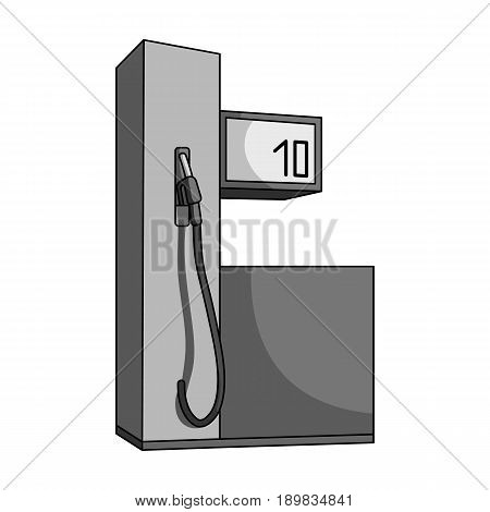 Gas station for cars.Car single icon in monochrome style vector symbol stock illustration .