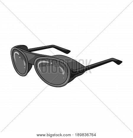Protective glasses.Mountaineering single icon in monochrome style vector symbol stock illustration .