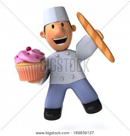 Fun baker - 3D Illustration