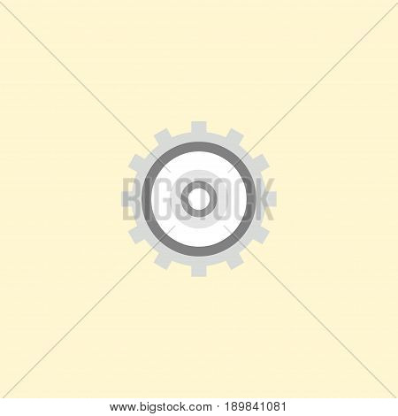 Flat Gear Element. Vector Illustration Of Flat Cogwheel Isolated On Clean Background. Can Be Used As Gear, Cogwheel And Cog Symbols.
