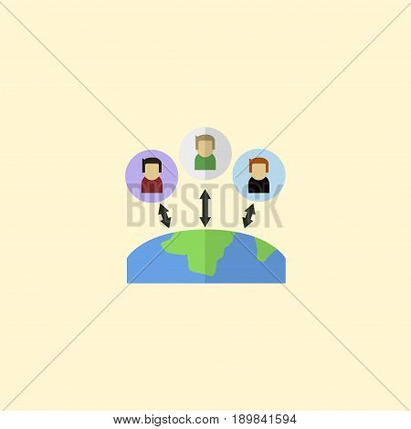 Flat Outsource Element. Vector Illustration Of Flat Administration  Isolated On Clean Background. Can Be Used As Administration, Manager And Outsource Symbols.