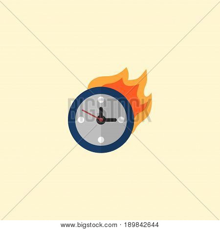 Flat Deadline Element. Vector Illustration Of Flat Limit  Isolated On Clean Background. Can Be Used As Time, Limit And Deadline Symbols.