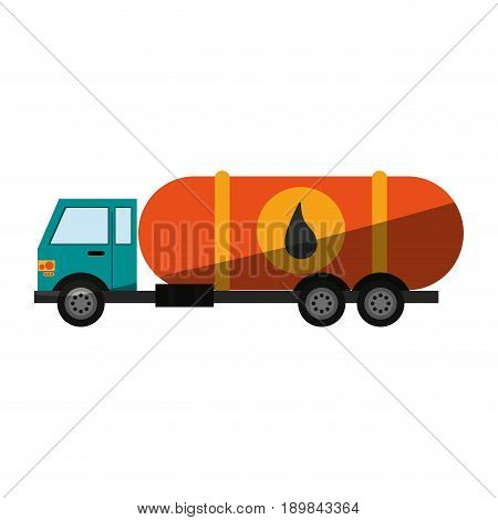 cistern truck oil industry related  icon image vector illustration design