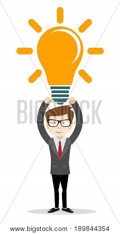 thinking or problem solving business concept . Stock vector illustration for poster, greeting card, website, ad, business presentation, advertisement design.