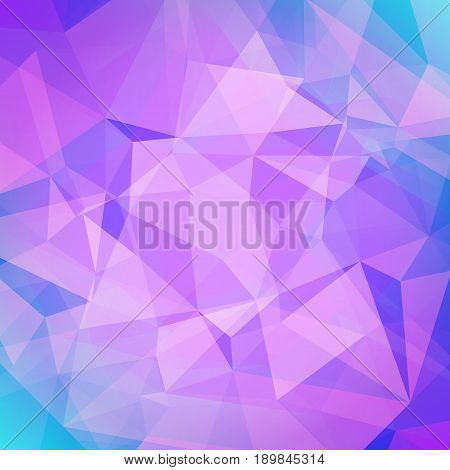 Abstract square triangle background. Tender smooth polygonal backdrop for business presentation. Soft gradient color transition for mobile application and web. Trendy geometric colorful banner.