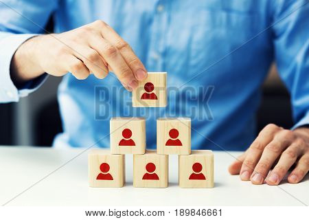 concept of human resources and business hierarchy