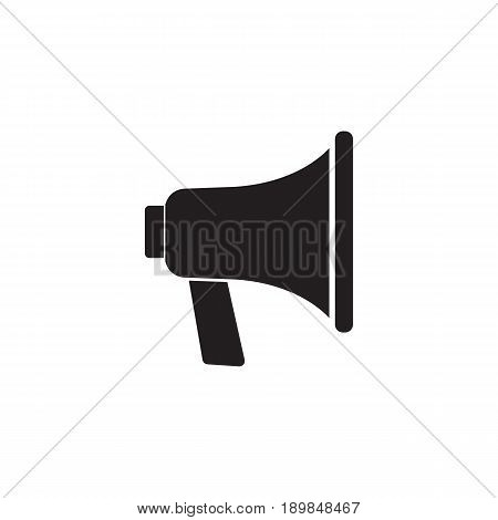 Loudspeaker solid icon, bullhorn sign, megaphone, social media, vector graphics, a filled pattern on a white background, eps 10.