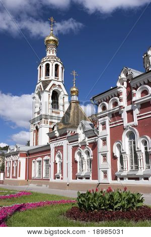 The Church of St. Barbara in Kazan (Tatarstan, the Russian Federation) arose at the end of the 18th century. Designed in classical style.