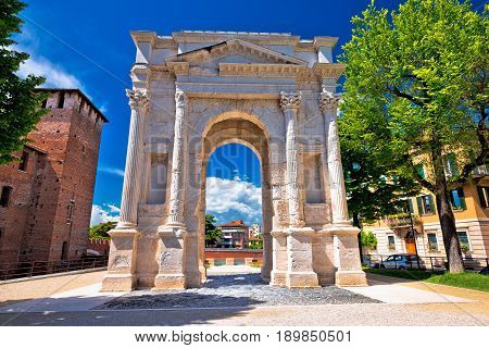 Arco Dei Gavi Famous Historic Landmark In Verona