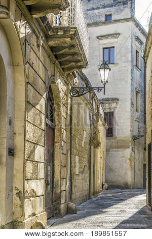 Charming Street Of Historic Lecce, Puglia, Itly