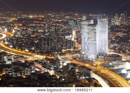 Tel Aviv in der Nacht - Night City