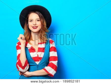 Young Smiling Red-haired Woman