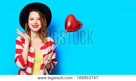 Woman With Heart Shape Toy