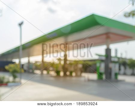 Blurred image of gas station or filling station background