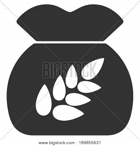 Gray Grain Harvest toolbar pictogram. Vector pictogram style is a flat symbol on diagonal hatch transparent background.