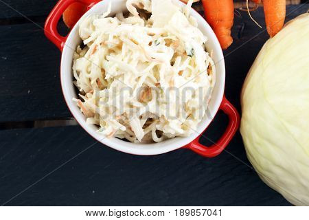 Healthy Coleslaw Cabbage Salad. With Carrots