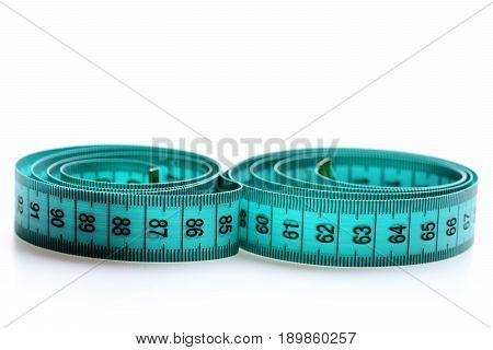 Sewing Tape In Greenish Blue Color With Black Numbers
