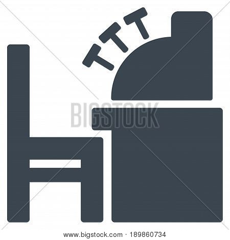 Smooth Blue Accounting Office interface toolbar pictogram. Vector pictogram style is a flat symbol on diagonal hatch transparent background.