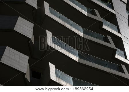 MILAN, ITALY - APRIL 17, 2017: Milan (Lombardy Italy): modern residential buildings in the new Citylife area (Tre Torri)