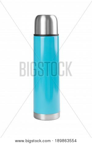 Metal thermos. isolated on a white background