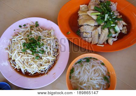 Ipoh traditional food Chicken Hor Fun. Chinese food