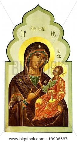Iberian icon of the Mother of God and child (Jesus Christ)