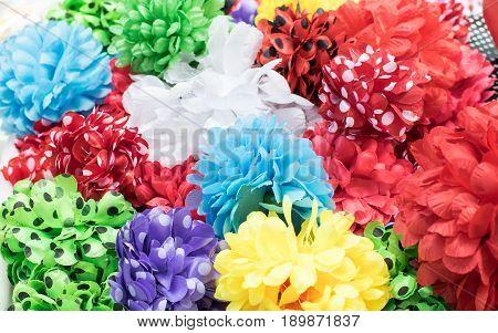 Fabric flower hair clip for a flamenco dancer