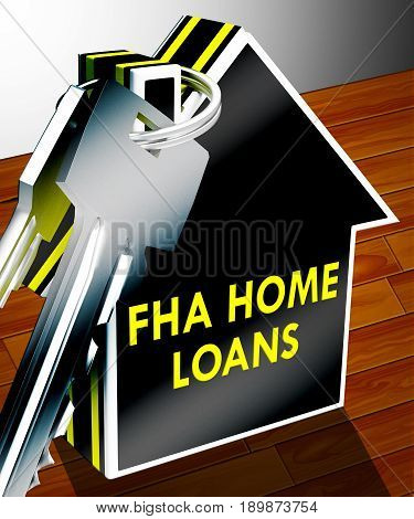 Fha Home Loans Shows Federal Housing 3D Rendering