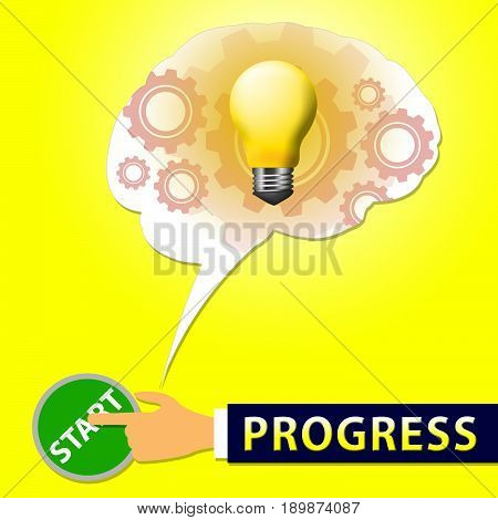Progress Light Shows Improvement And Advancement 3D Illustration