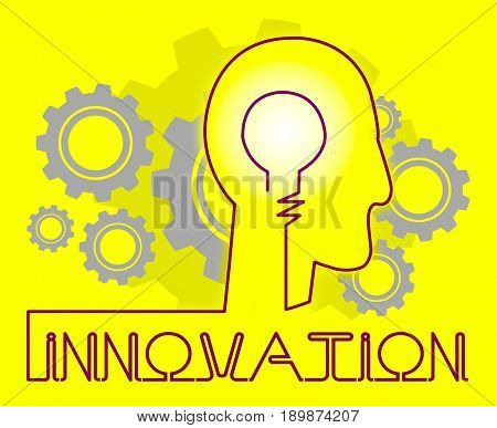 Innovation Cogs Shows Reorganization Transformation And Restructuring