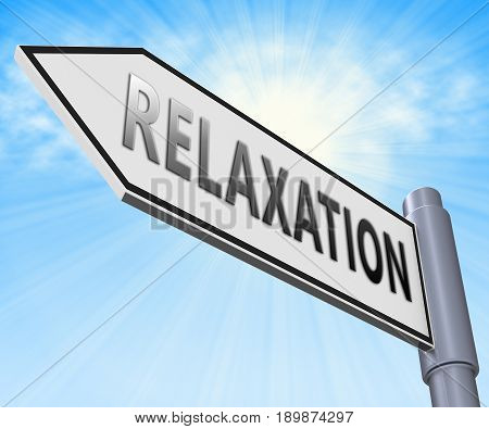 Relax Relaxation Displaying Tranquil Resting 3D Illustration
