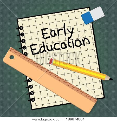 Early Education Represents Kids School 3D Illustration