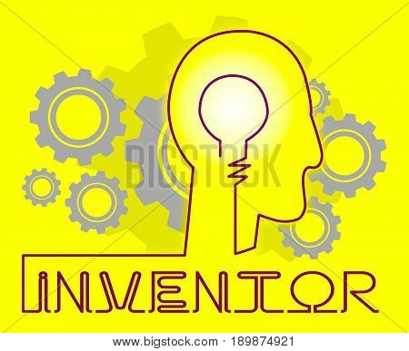 Inventor Cogs Meaning Innovating Invents And Innovating poster