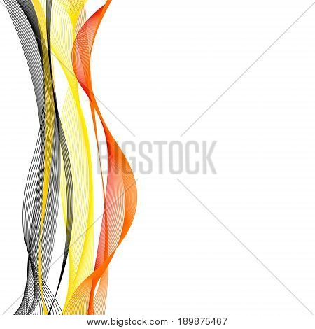 Vector template linear background with flag to celebrate June 21 - Belgium National Day