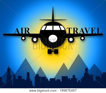 Air Travel Meaning Plane Message 3D Illustration
