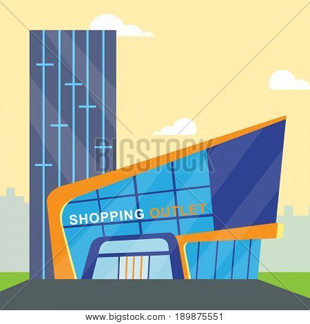 Shopping Outlet Meaning Retail Commerce 3D Illustration