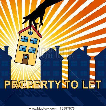 Property To Let Shows For Rent 3D Illustration