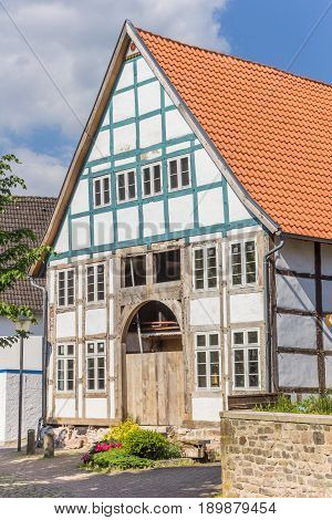 Half-timbered House In The Historic Center Of Blomberg